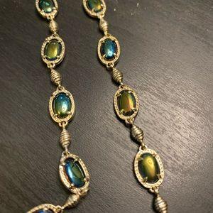 Black Iridescent Gayle Necklace - Rare!